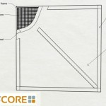 10x10 Non warping Large Wood Sliding Barn Door Spec Drawing