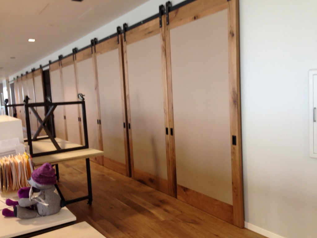Architectural Room Partition Sliding Barn Door Style Non