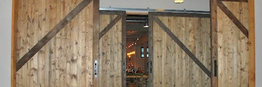 Project Restaurant Dining Room Dividers Type Large Rustic Wood Sliding Barn Doors