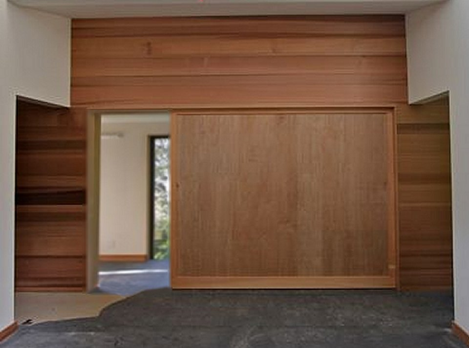 Insulated Large Sliding Door Room Divider Contemporary Architecture