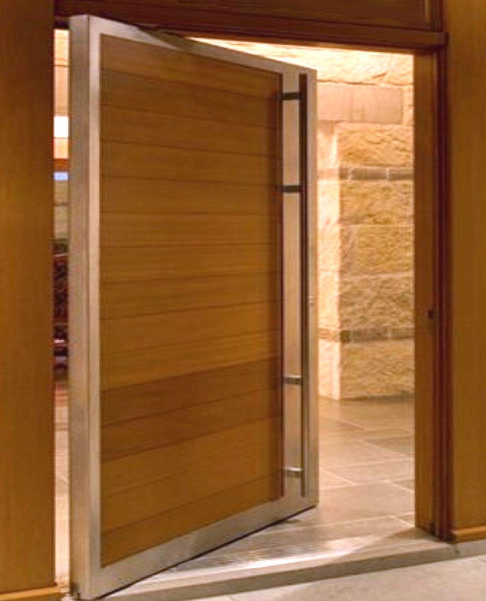 Hidden Kitchen Pivot Laminated Door