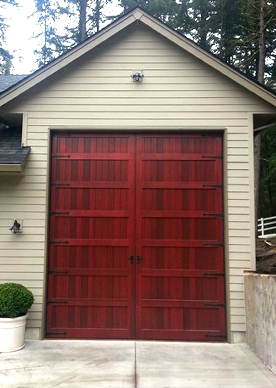 Bi fold carriage doors 16 ft x 8 ft insulated wood for How tall is an rv garage door