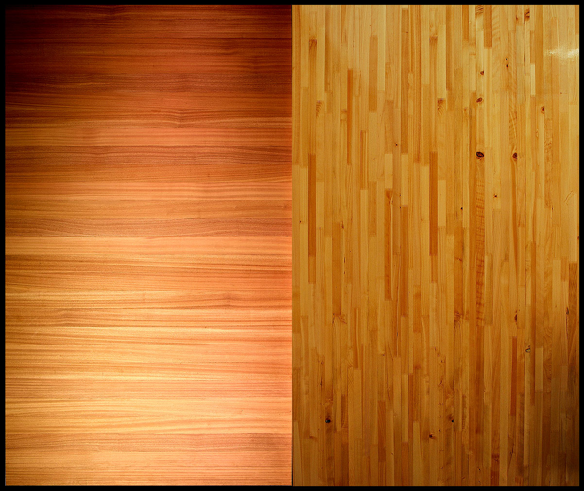 sing core high end wood stave skin panel